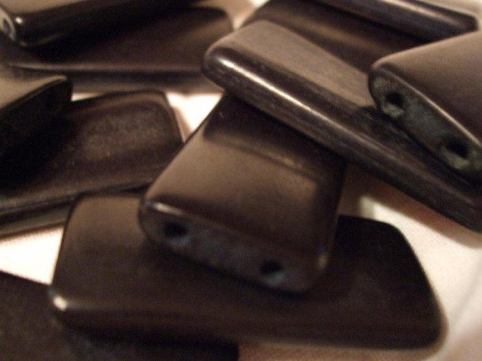 50 BLACK BAMBOO TILE BEADS DOMINOES ALTERED ART