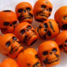 20 Pumpkin Orange DAy oF thE DeAd Skull Beads LOLITA