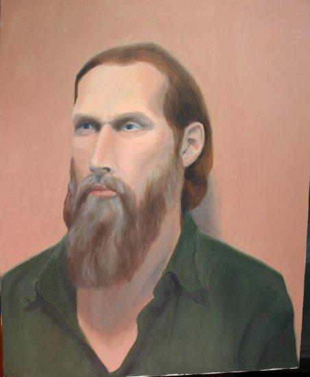 Original Oil Painting Portrait of Man with Beard Art by LJT