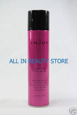 ENJOY HAIR CARE SUPER HOLD HAIR SPRAY 10 OZ [PINK]
