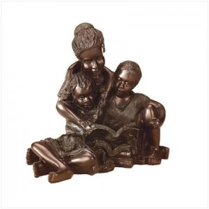 Mother and Kids Reading