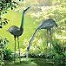 Iron Standing Crane Statues