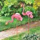 Flamingo Gazing Ball Stakes