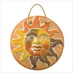 Terra Cotta Sun Face Plaque