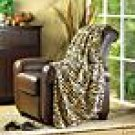 Microfiber Tiger Print Throw