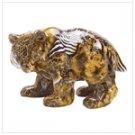 Patchwork Animal-Print Bear Figure