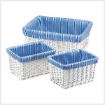 Woven Willow Basket Trio