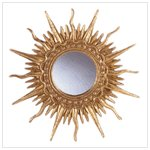 Gold Plated Sun Ray Mirror