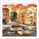 European Canal Canvas Print