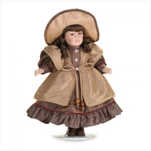 """16"""" H Porcelain Doll with Hat"""