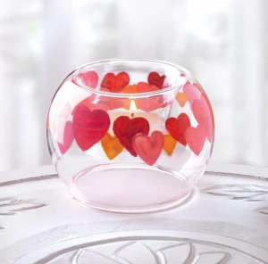Circular Hearts Candle Holder