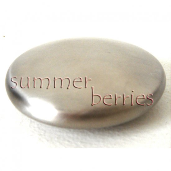 Brushed Stainless Steel Soap - Fish, Garlic & Onion Odour Remover / Deodorizer