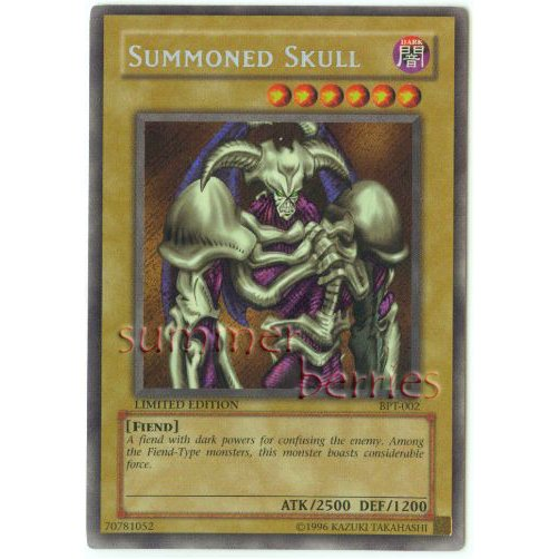 YuGiOh Card BPT-002 Limited Edition - Summoned Skull [Promo Secret Rare Holo]