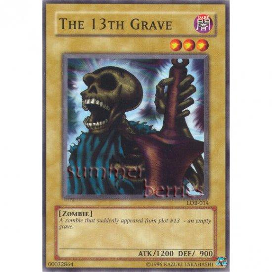 YuGiOh Card LOB-014 - The 13th Grave [Common]