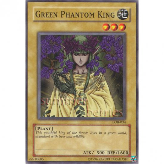 YuGiOh Card LOB-034 - Green Phantom King [Common]