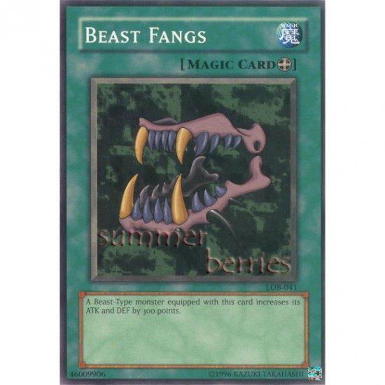 YuGiOh Card LOB-041 - Beast Fangs [Short Print]