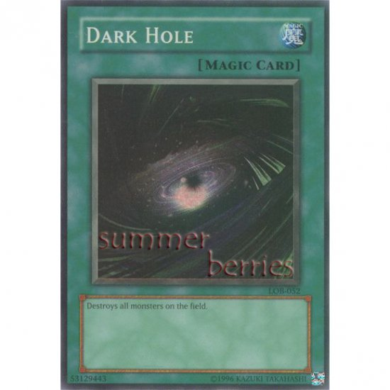 YuGiOh Card LOB-052 - Dark Hole [Super Rare Holo]