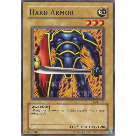 YuGiOh Card LOB-074 - Hard Armor [Common]