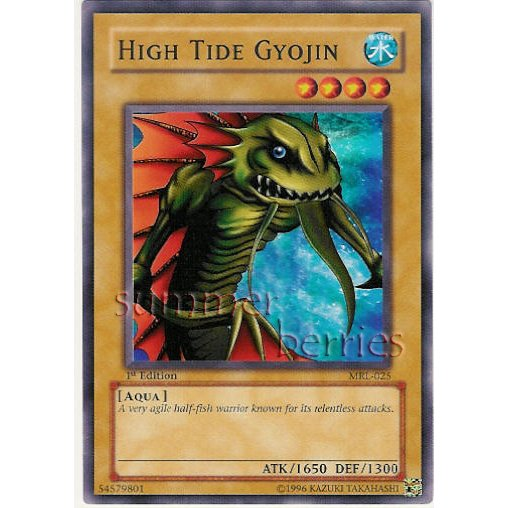 YuGiOh Card MRL-025 1st Edition - High Tide Gyojin [Common]
