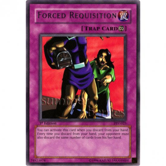 YuGiOh Card PSV-025 1st Edition - Forced Requisition [Rare]