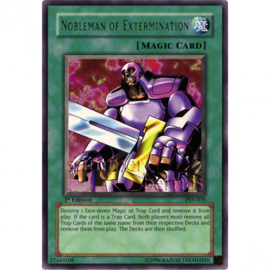 YuGiOh Card PSV-035 1st Edition - Nobleman of Extermination [Rare]