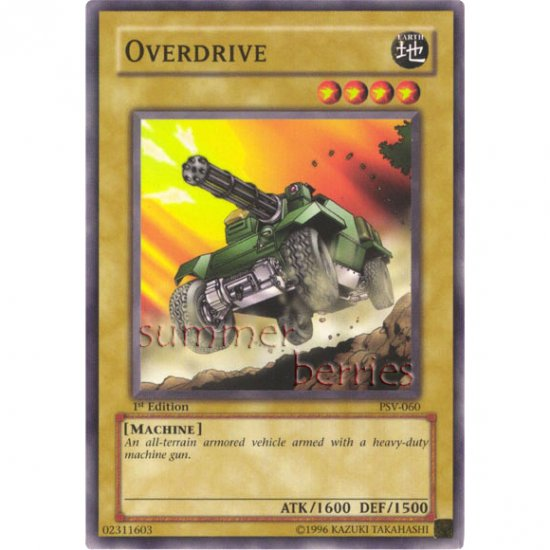 YuGiOh Card PSV-060 1st Edition - Overdrive [Common]
