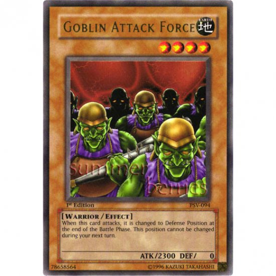 YuGiOh Card PSV-094 1st Edition - Goblin Attack Force [Ultra Rare Holo]