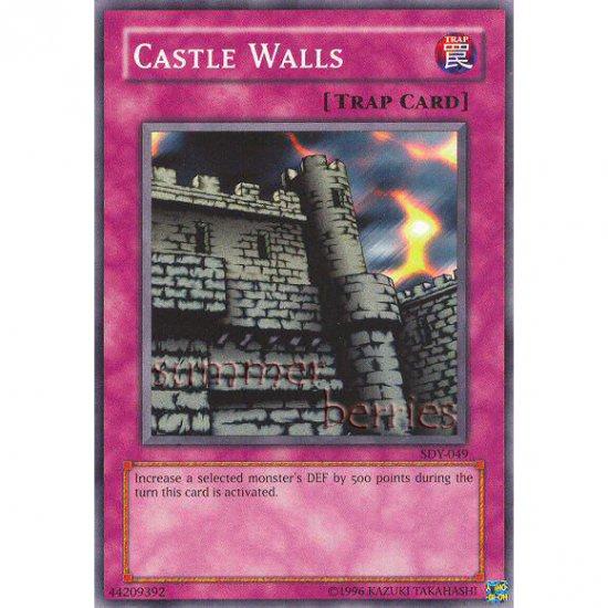 YuGiOh Card SDY-049 - Castle Walls [Promo Common]