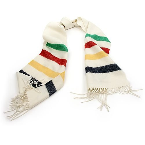 Hudson's Bay Company Multi-Stripe Wool Scarf
