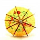 Mini Cocktail Parasol Drink Umbrella - Yellow (Set of 10)