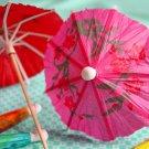 Mini Cocktail Parasol Drink Umbrella - Fuschia Purple (Set of 10)