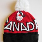 HBC 2012 Canada Olympic Collection Adult Pom Pom Toque Hat - Red