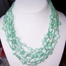 MINTY  AQUA MULTI-STRAND NECKLACE - free shipping