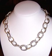 CHUNKY DESIGNER-STYLE LINK NECKLACE - free shipping