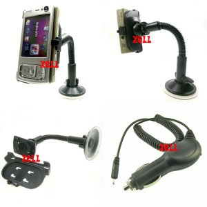 In-car Charger and Car Holder Mount for Nokia N95  **Free Shipping**
