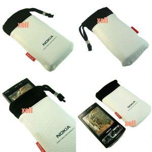 G2 Nokia Bag Pouch Case for N95 8GB N82 N81 N73 5310 5610, White  **Free Shipping**