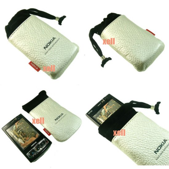 G2 Nokia Bag Pouch Case for N95 8GB N82 N81 N73 5310 5610, Silver  **Free Shipping**