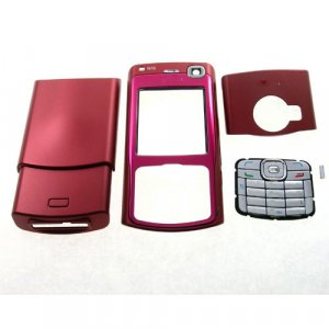 Housing Cover Fascia for Nokia N70, Red  **Free Shipping**
