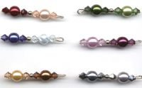 Glass Pearl & Crystal Bracelet - Custom Colors