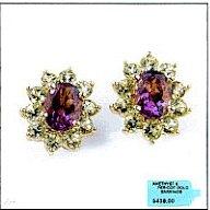 Beautiful Amethyst And Peridot Earrings