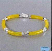 Genuine Yellow Jade Bracelet