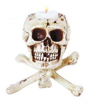 Skull Tripod Candleholder