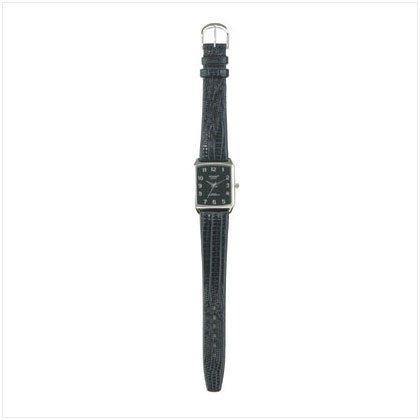 Classic Black Embossed Watch