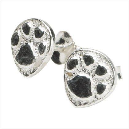 Paw Prints Stud Earrings