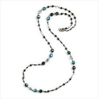 Black & Hematite Bead Necklace