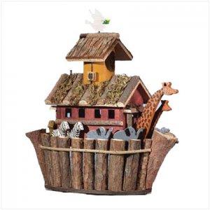 Wood Noah's Ark Birdhouse