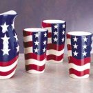 Patriotic Pitcher & Tumblers
