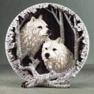 White Wolf Collectors Plate