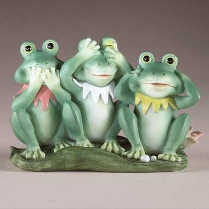 See, Hear, & Speak No Evil Frog Trio