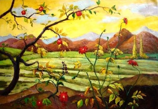 Apple Tree with Red Fruit by Paul Ranson (Pommiers aux fruits rouges)